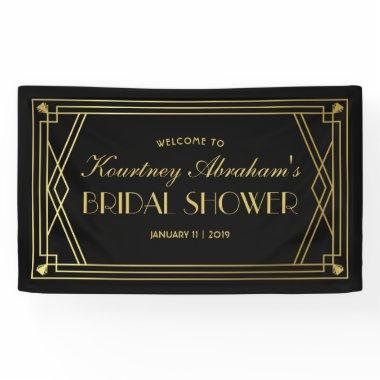 1920s Great Gatsby Art Deco  Banner