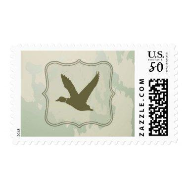 20 Postage Stamps Duck Hunting Rustic
