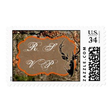 20 Postage Stamps Hunting Deer Buck Head Camo