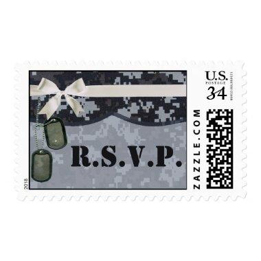 20 Postage Stamps Navy DIGITAL PRINT Uniform Camo