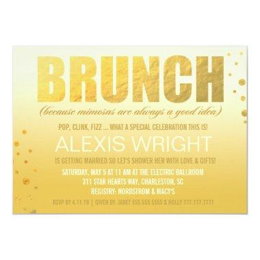 311 Brunch Because Mimosa Orange Ombre Invitations
