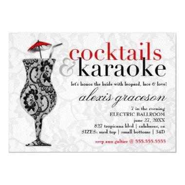 311 Cocktails & Karaoke Lace Invitations