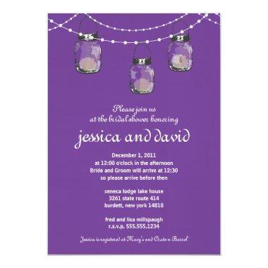 3 Hanging Mason Jars - Engagement Party