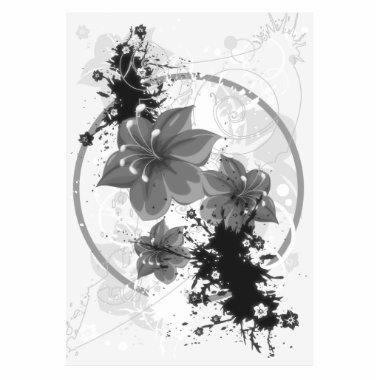 3 Pretty Flowers - B&W Infrared Statuette