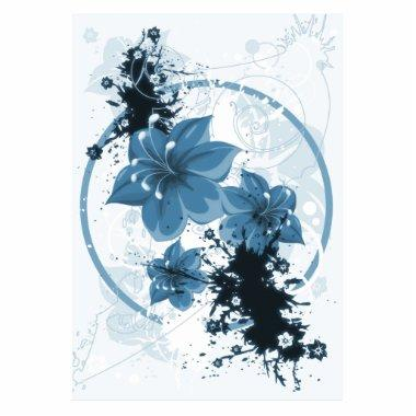 3 Pretty Flowers - Blue Cutout