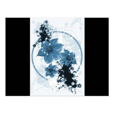 3 Pretty Flowers - Blue Post
