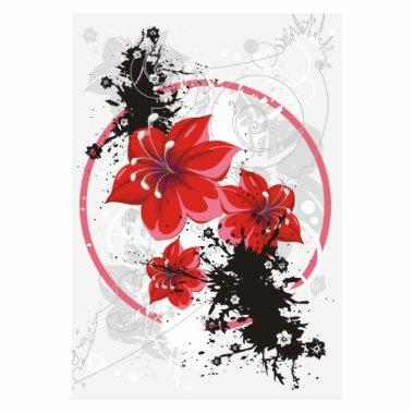 3 Pretty Flowers - Color Cutout