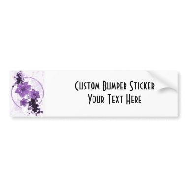 3 Pretty Flowers - Purple Bumper Sticker