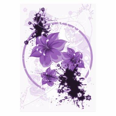 3 Pretty Flowers - Purple Cutout