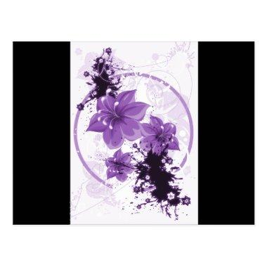 3 Pretty Flowers - Purple PostInvitations