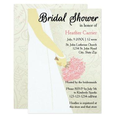 3x5 Vertical Dress & Bouquet - Invite