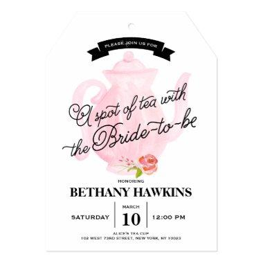 A Spot of Tea with the Bride-to-be | Bridal Shower Invitations
