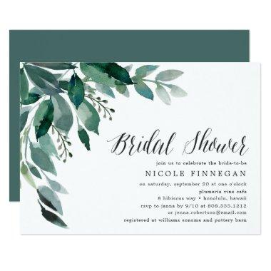 Abundant Foliage | Bridal Shower Invitations