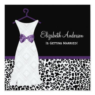 Acai Purple Gown Leopard Print