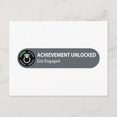 Achievement Unlocked - Got Engaged Announcement PostInvitations
