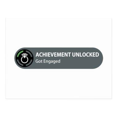 Achievement Unlocked - Got Engaged PostInvitations