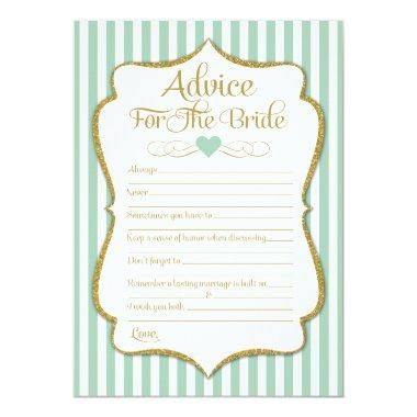 Advice For The Bride Mint Green Gold