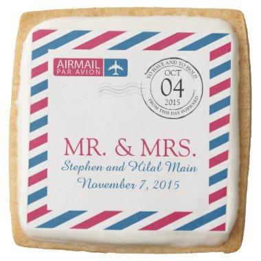 Airmail | Wedding  Square Shortbread Cookie