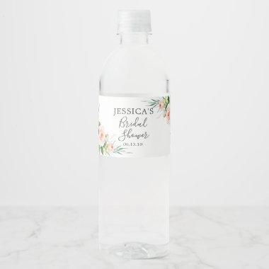 Airy Blush Bridal Shower Water Bottle Label