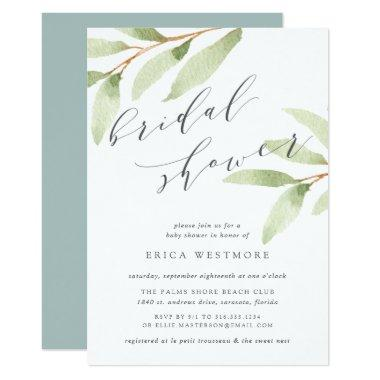 Airy Botanical Bridal Shower Invitations
