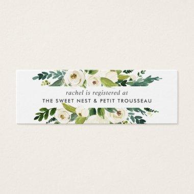 Alabaster Floral Bridal Registry Insert Cards