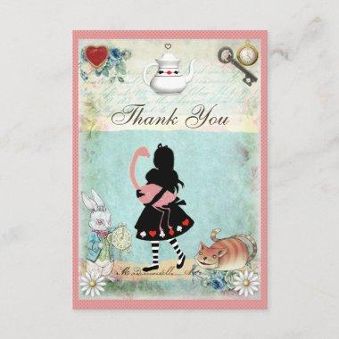 Alice, Flamingo & Cat  Thank You