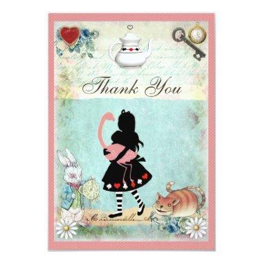 Alice, Flamingo & Cat  Thank You