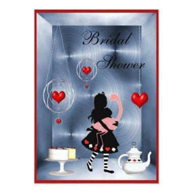 Alice & Flamingo Hearts  Tea Party