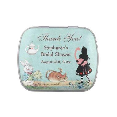 Alice in Wonderland  Thank You Favor Jelly Belly Tin