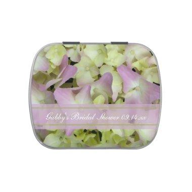 Almost Pink Hydrangea Floral  Favor Candy Tin