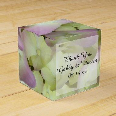 Almost Pink Hydrangea Floral Wedding Favor Box