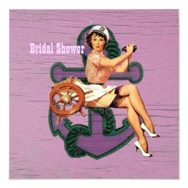 anchor retro pin up girl sailor