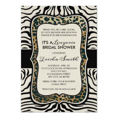 Animal Print Bridal Shower Invitations
