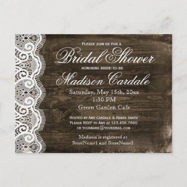 Antique Lace Rustic  Invite Post