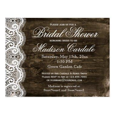 Antique Lace Rustic  Invite Post
