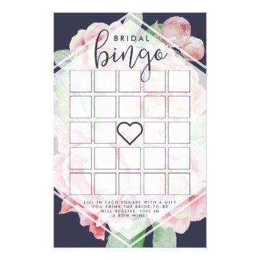 Antique Peony  Bingo Game Flyer
