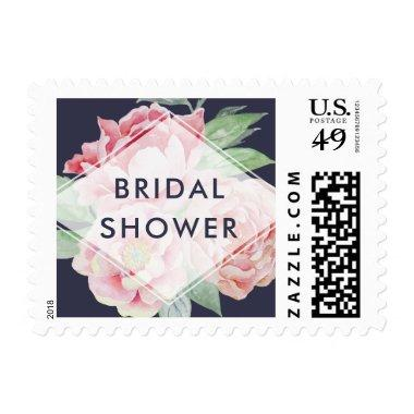 Antique Peony Bridal Shower Postage