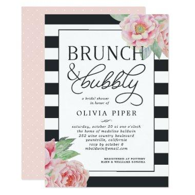 Antique Peony Brunch & Bubbly  Invite