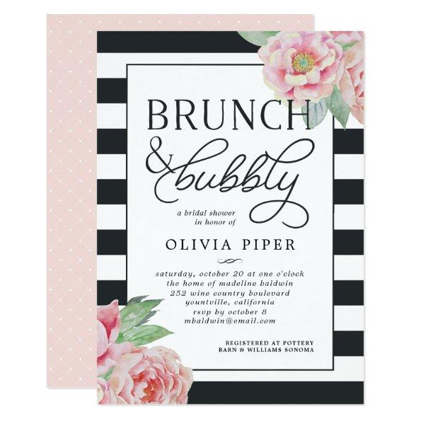Antique Peony Brunch & Bubbly  Invite