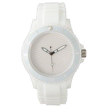 Antique White Chevron; zig zag Wristwatches