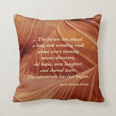 Apache Wedding Blessing, Personalized Southwest Throw Pillow