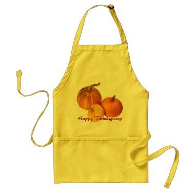 Apron - Happy Thanksgiving pumpkin