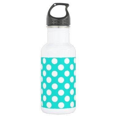 Aqua Color Polka Dots Water Bottle