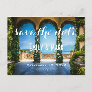 Arches of Italy Elegant Save The Date Announcement PostInvitations