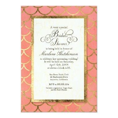 Art Deco Gold Scalloped Shell  Party