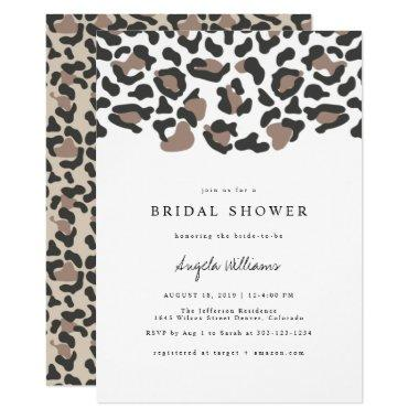 Aubree - Leopard Print Safari Bridal Shower Invitations