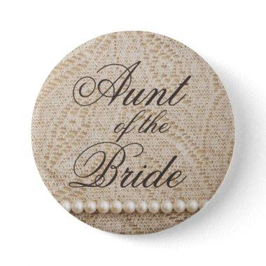 Aunt of the Bride with Lace and Pearls - Button