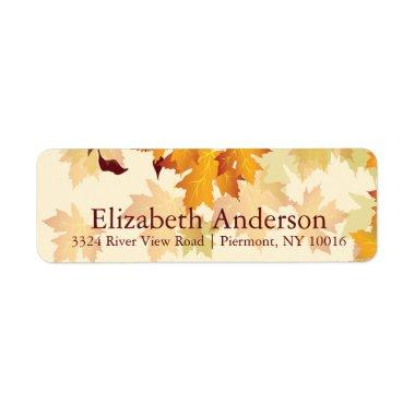 Autumn Fall Maple Leaves  Labels