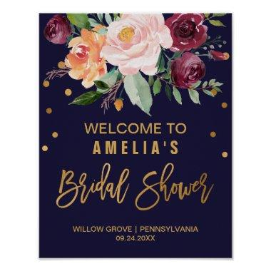 Autumn Floral  Welcome Poster