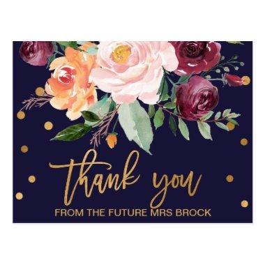 Autumn Floral Thank You PostInvitations